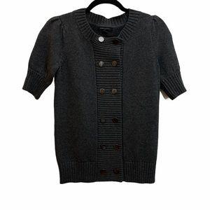 Banana Republic Button Front Short Sleeve Sweater